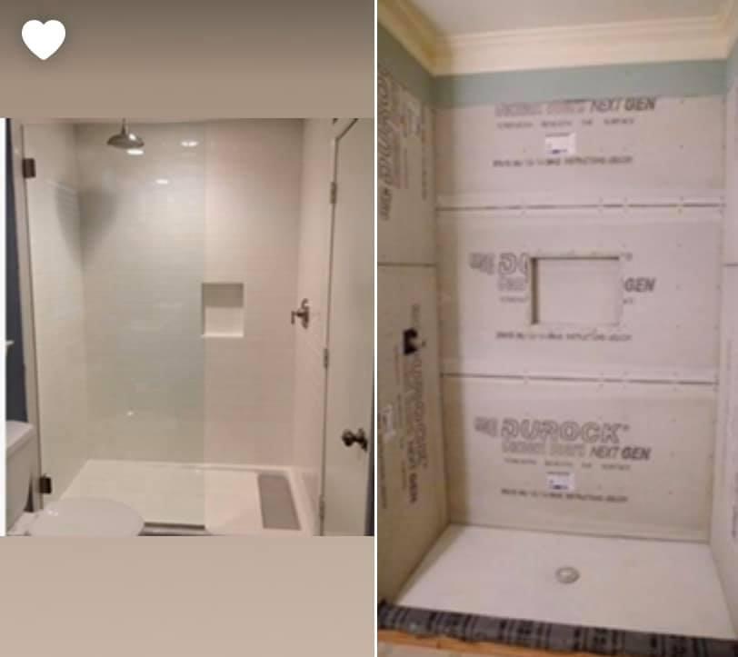 bathroom - drywall fix