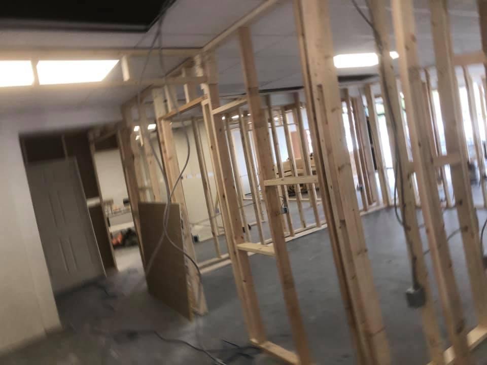 new drywall installation